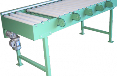 Roller conveyor with sideshifting motion