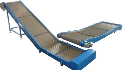 Conveyor with metal belt