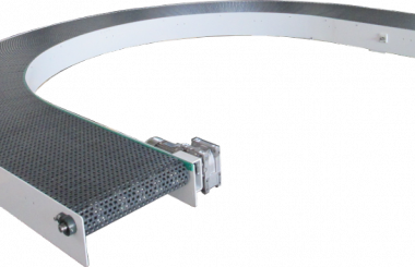 180°curved and light conveyor
