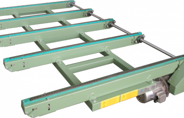 Conveyor under press