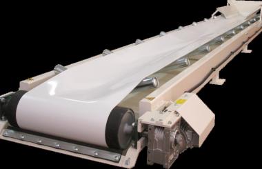 Heavy backhoe loader conveyor