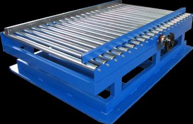 Roller idler conveyor with adjustable sides