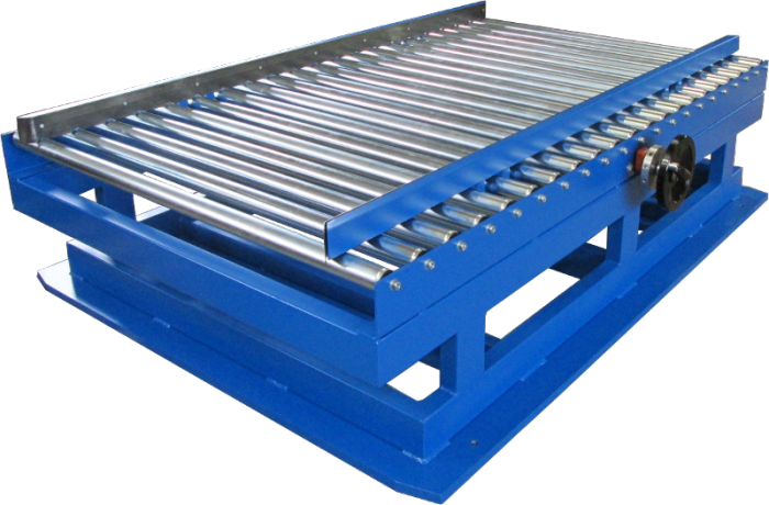 Roller idler conveyor with adjustable sides